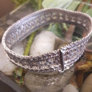 Jewelry - Italy Milor 925 Sterling Silver Riccio Wide Link B